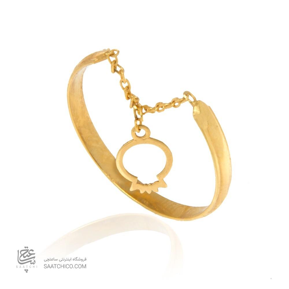 انگشتر طلا زنانه با آویز انار یلدا کد cr376