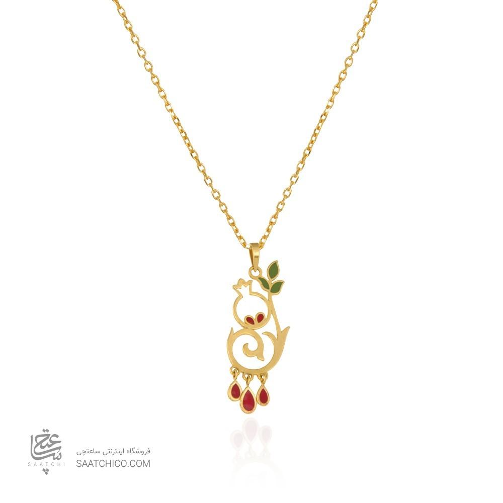 آویز طلا طرح گل انار یلدا کد lp614