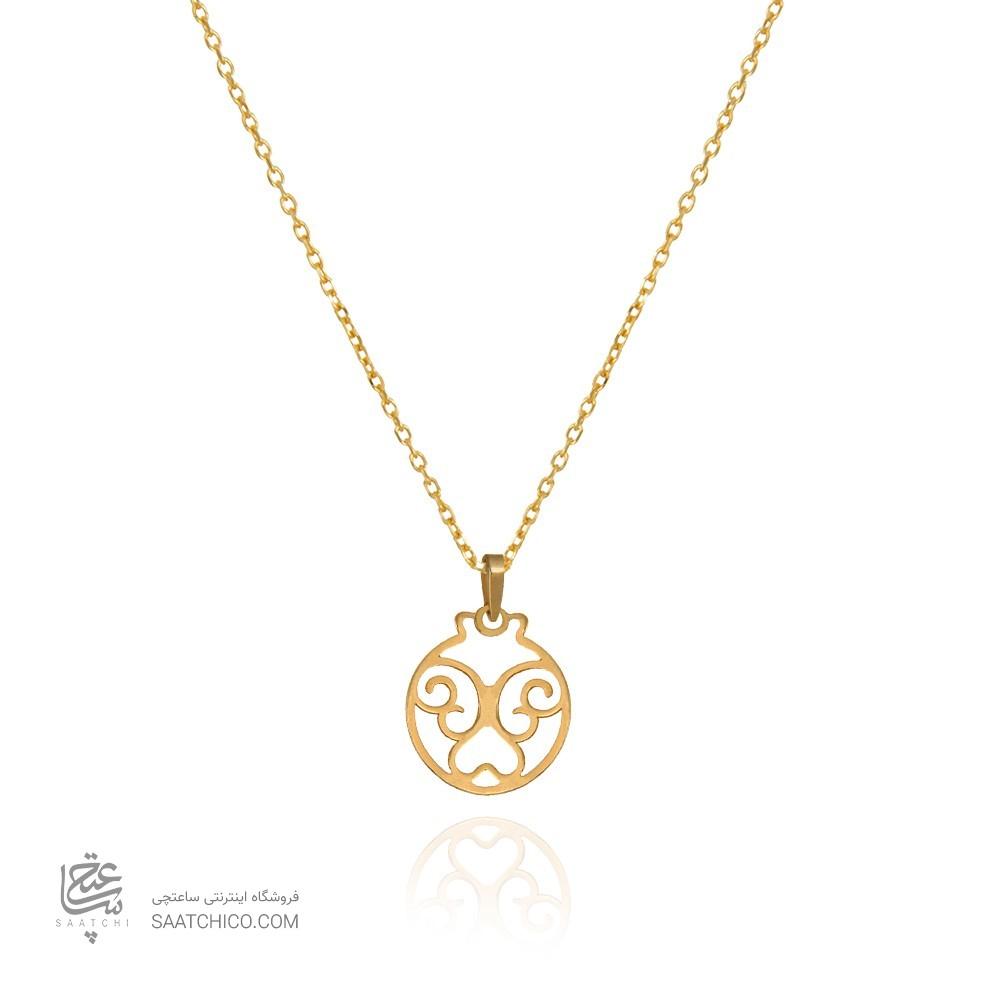 پلاک طلا طرح انار یلدا کد LP613