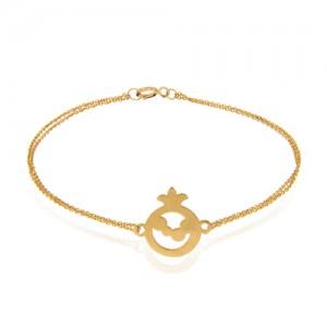 دستبند طلا زنانه طرح انار یلدا کد lb102