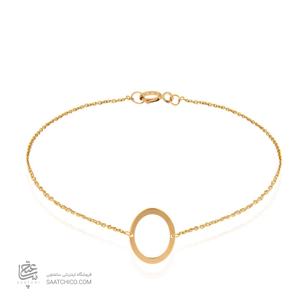 دستبند طلا زنانه طرح بیضی کد cb338