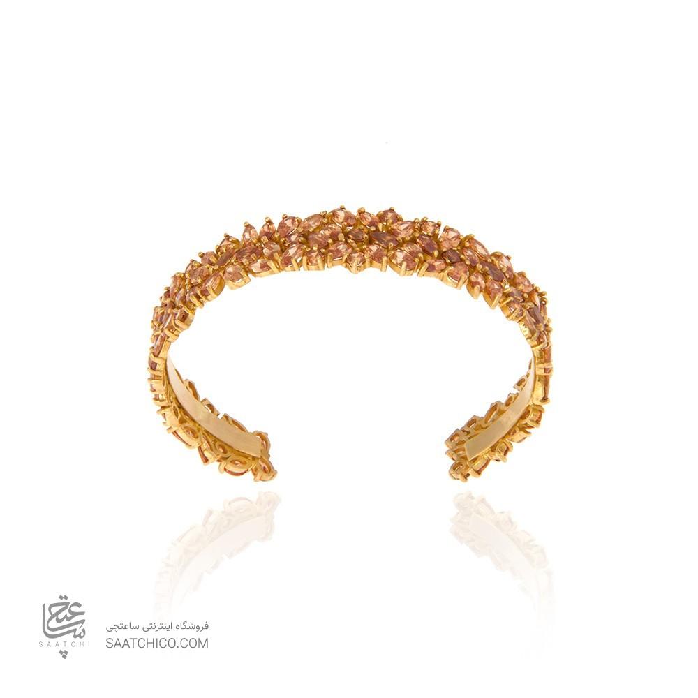 دستبند طلا زنانه با نگین کد cb308a