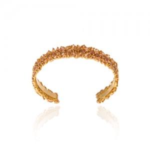 دستبند طلا زنانه مولتی کالر با نگین های cz کد cb308a