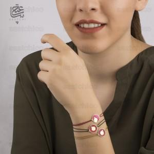 دستبند طلا زنانه طرح انار یلدا کد xb923