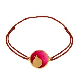 دستبند طلا زنانه طرح انار یلدا کد xb924