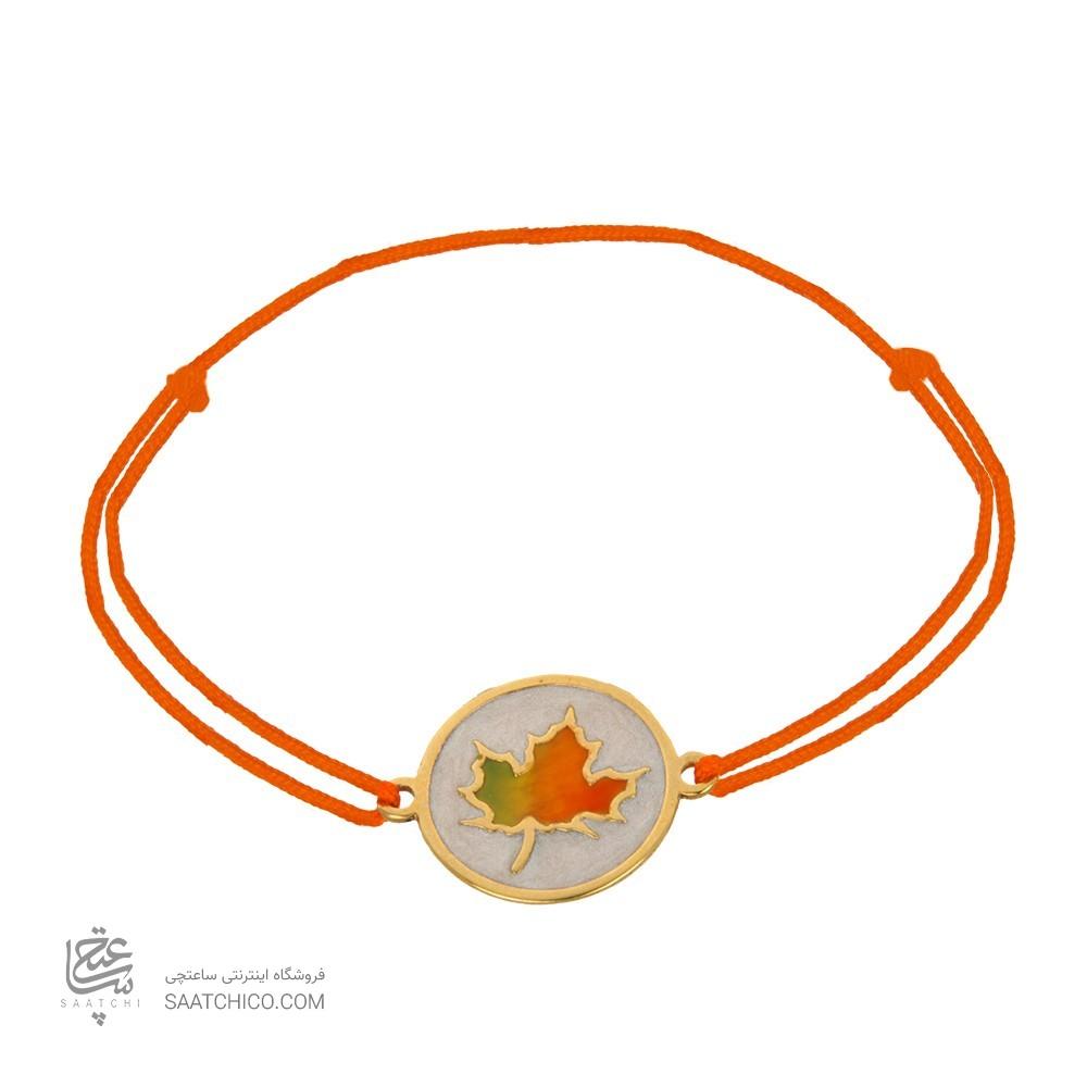 دستبند طلا زنانه طرح پاییز کد xb925
