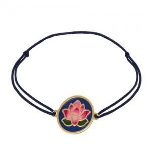 دستبند طلا زنانه طرح نیلوفر کد xb926