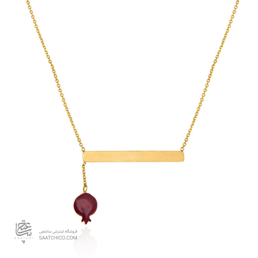 گردنبند طلا زنانه یلدایی کد xn304
