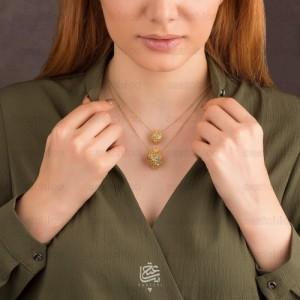 گردنبند طلا زنانه طرح انار یلدا کد xn305
