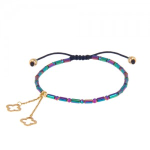 دستبند طلا زنانه با آویز ونکلیف کد xb929