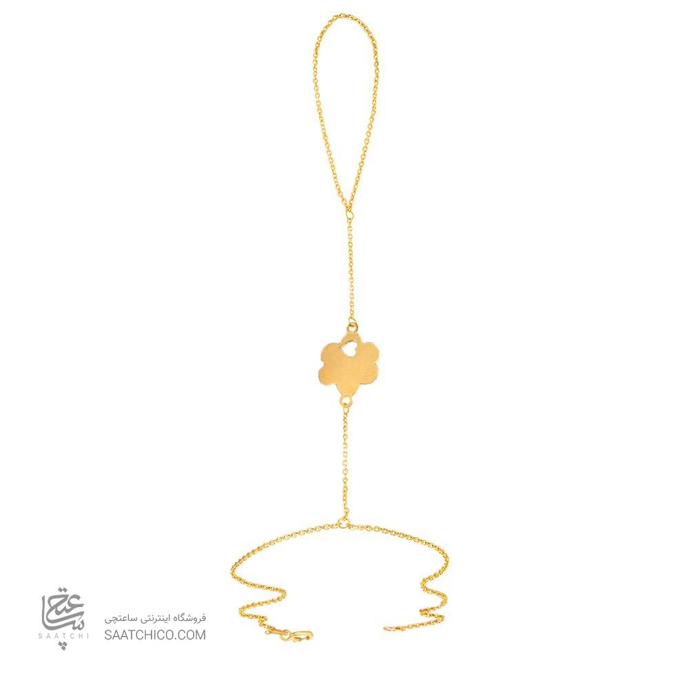 تمیمه طلا زنانه طرح گل و قلب کد lt405