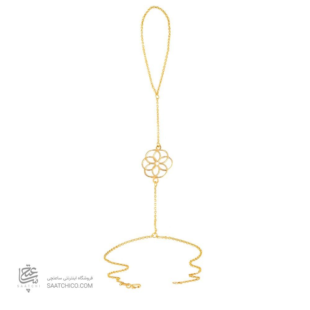 تمیمه طلا زنانه طرح گل کد lt411