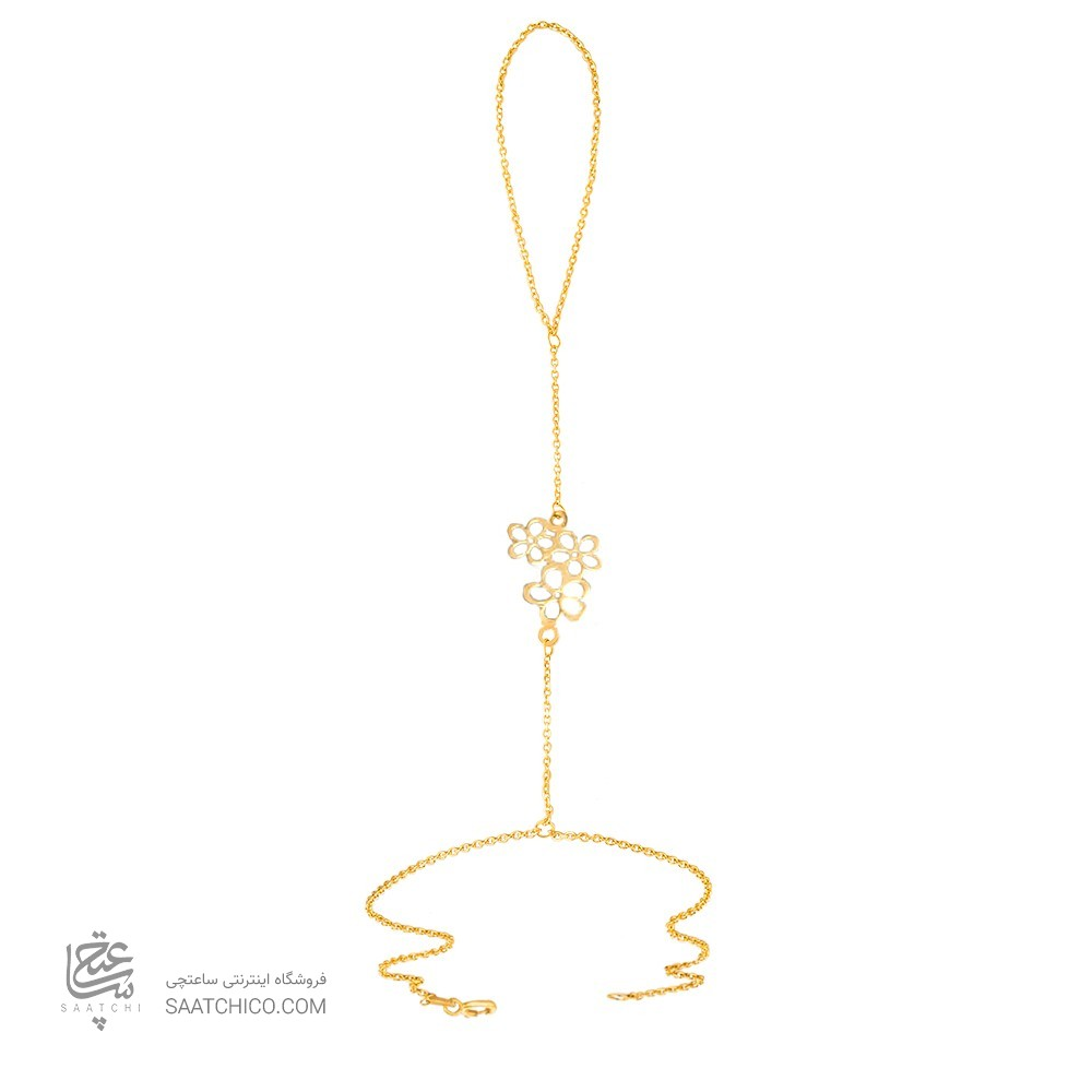 تمیمه طلا زنانه طرح سه گل کد lt412