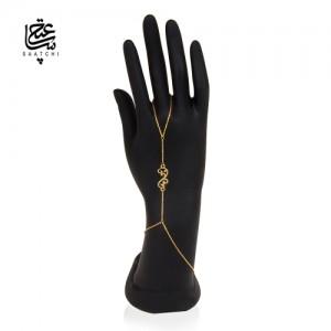 تمیمه طلا زنانه طرح اسلیمی کد lt413