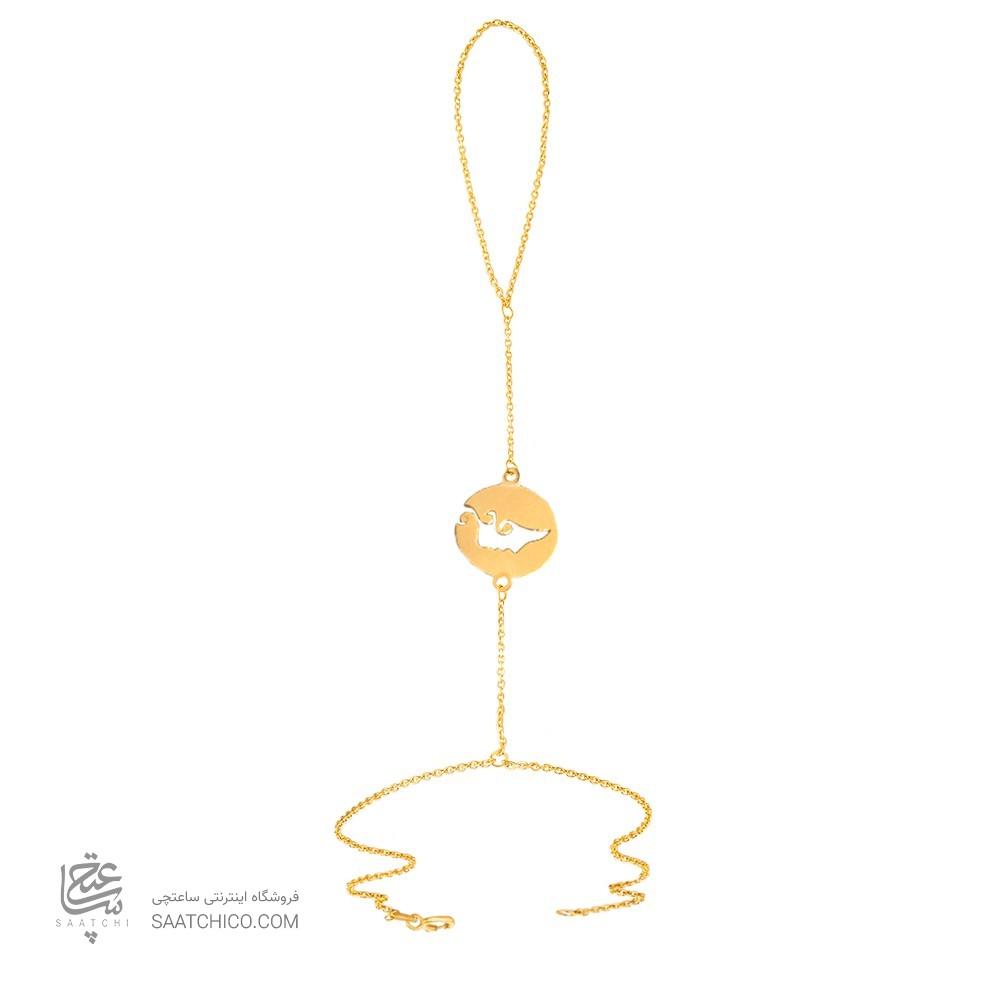 تمیمه طلا زنانه طرح نیم رخ چهره کد LT414