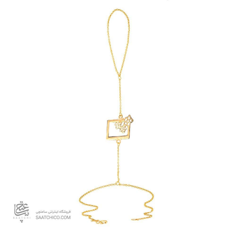 تمیمه طلا زنانه طرح هندسی کد lt416
