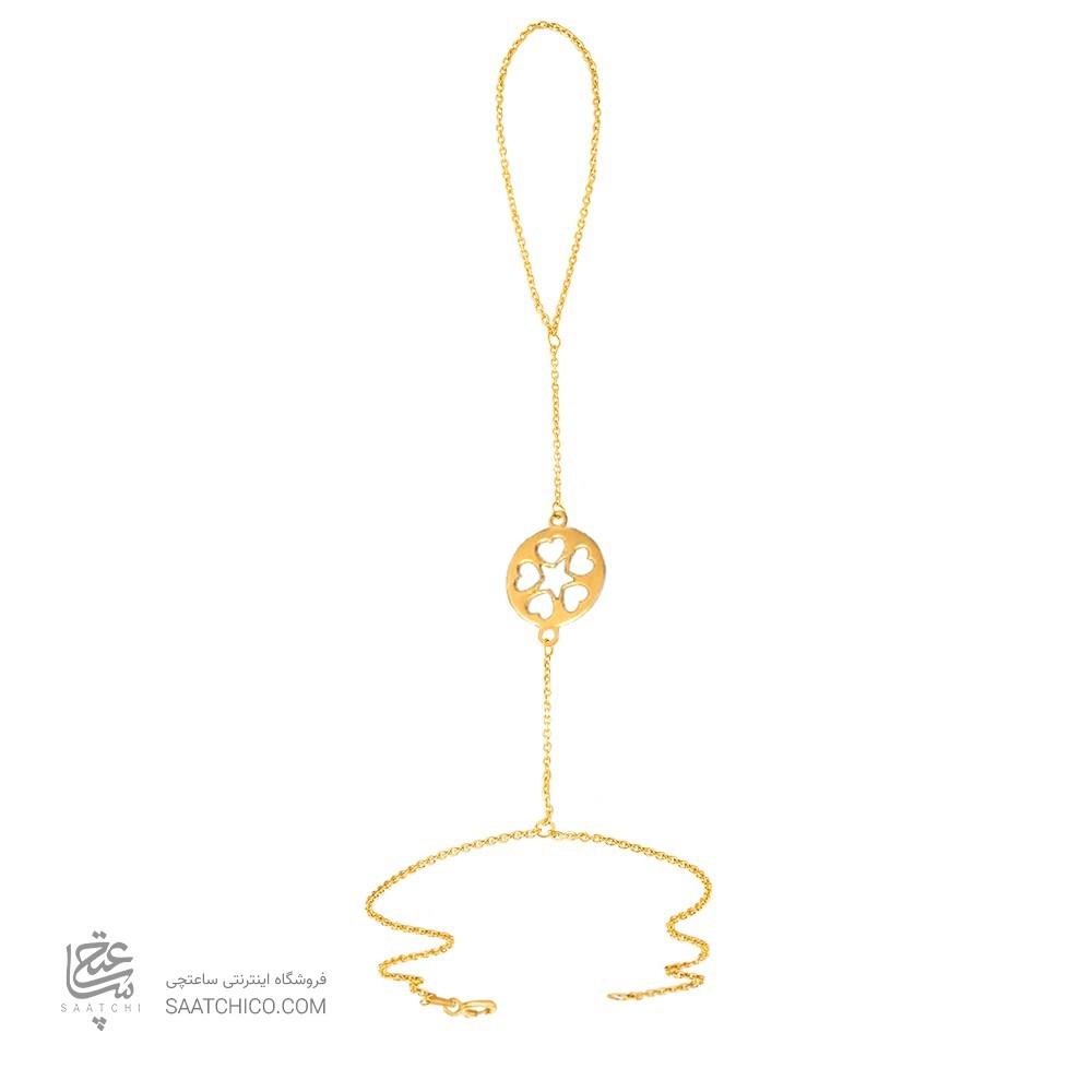 تمیمه طلا زنانه طرح قلب و ستاره کد lt418