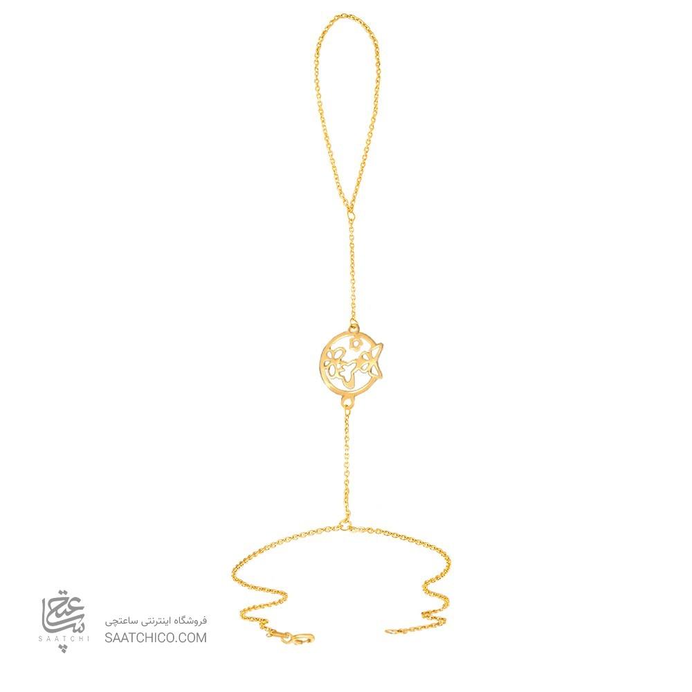 تمیمه طلا زنانه طرح پروانه کد lt422