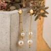گوشواره طلا زنانه با مروارید کد XE227