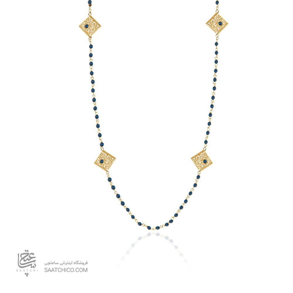 گردنبند رو لباسی طلا زنانه طرح فیوژن با نگین cz کد xn620