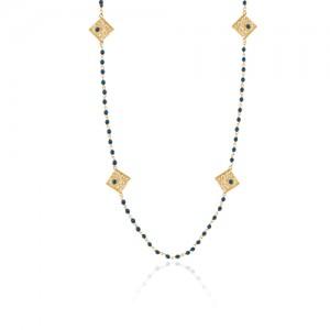 گردنبند رو لباسی طلا زنانه طرح فیوژن با نگین کد xn620