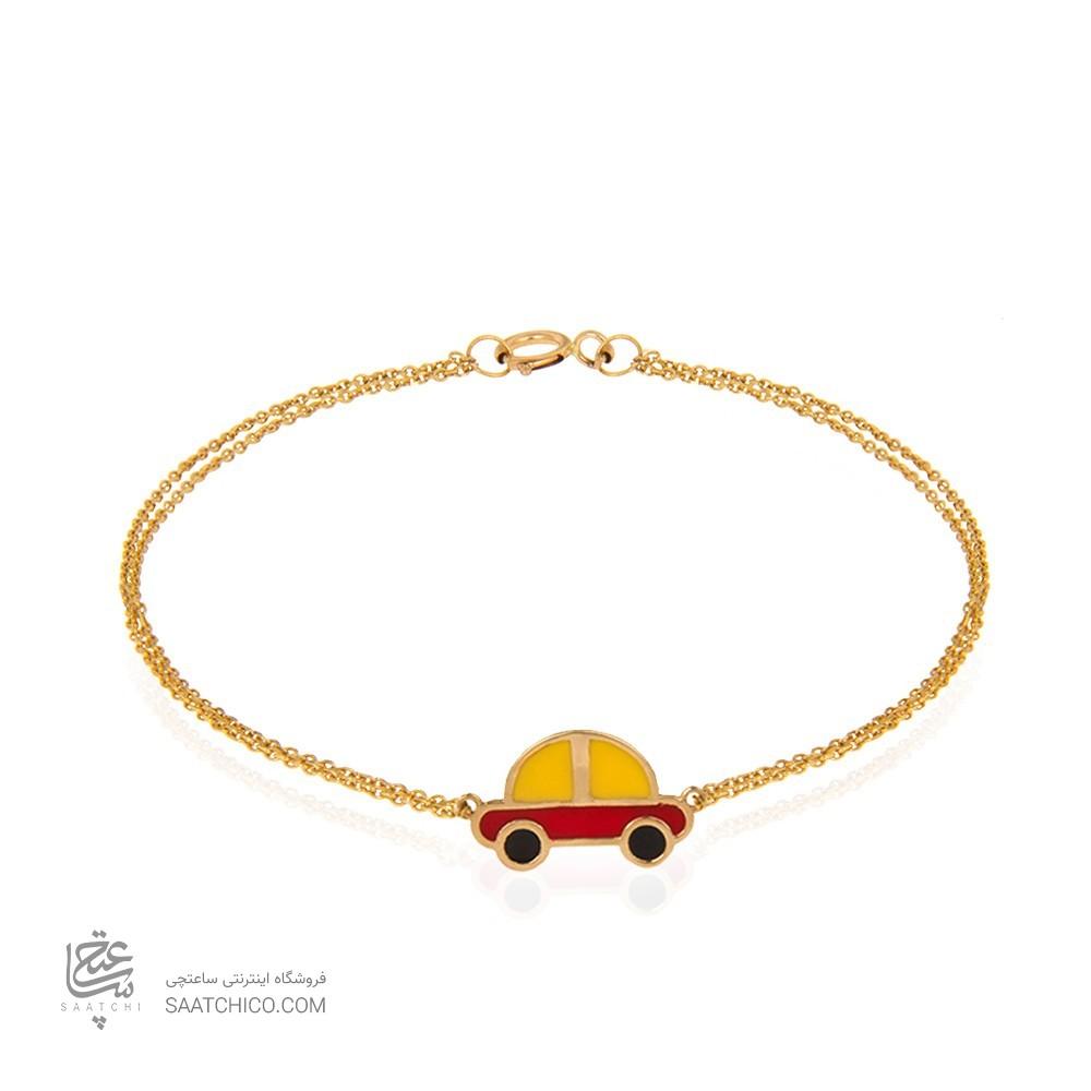 دستبند طلا کودک طرح ماشین کد kb316