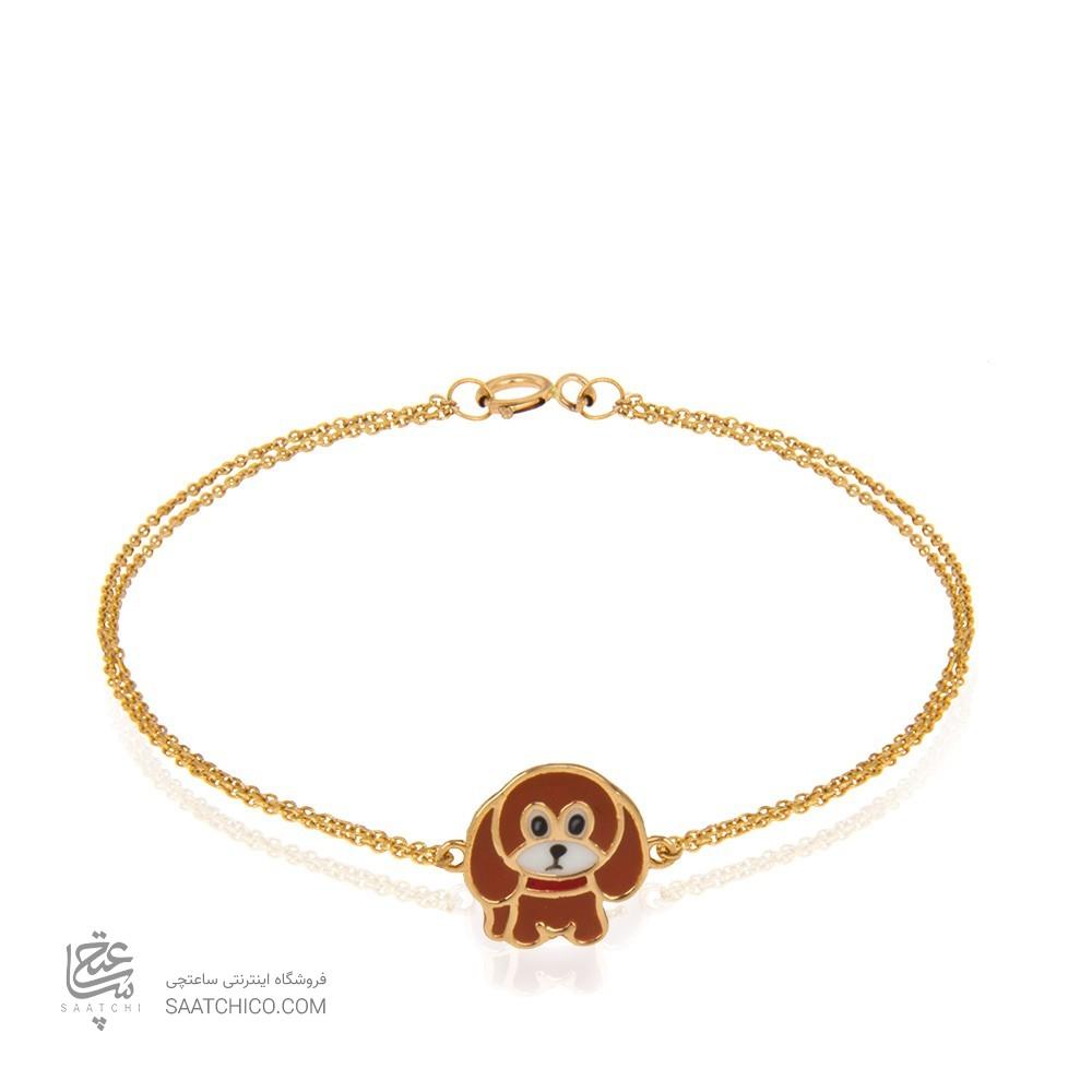 دستبند طلا کودک طرح سگ کدkb319
