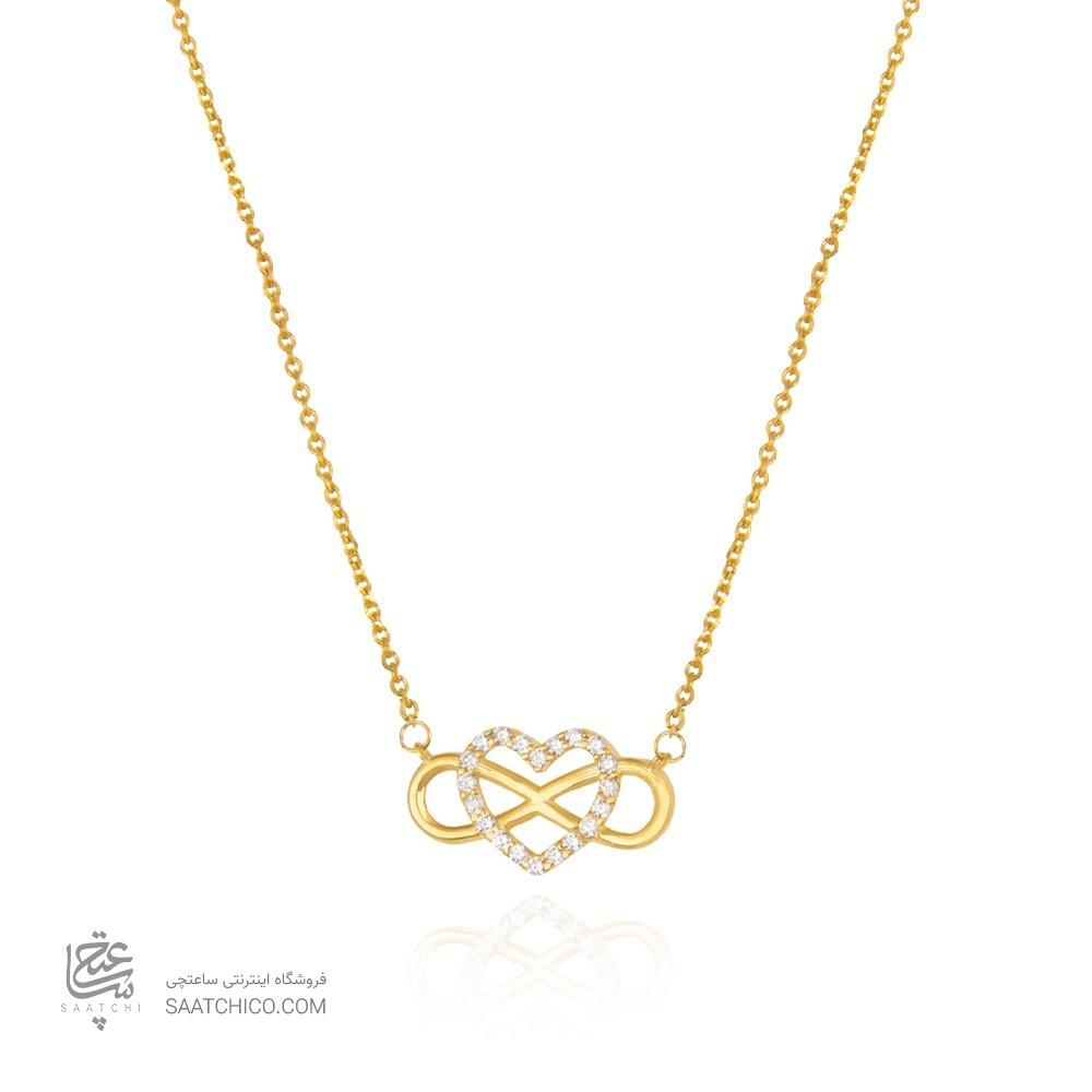 گردنبند طلا طرح عشق بی نهایت کد cn368