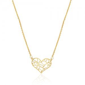 گردنبند طلا طرح قلب طرحدار کد cn369