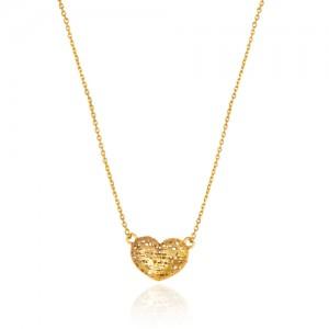 گردنبند طلا زنانه طرح قلب فیوژن کد cn373