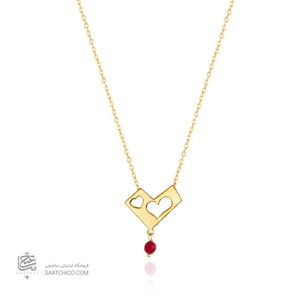 گردنبند طلا زنانه طرح عشق ولنتاین کد ln816