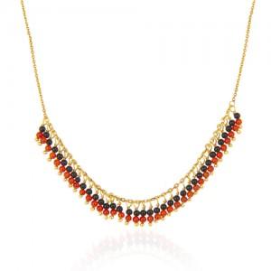 گردنبند طلا زنانه با سنگ کد xn309