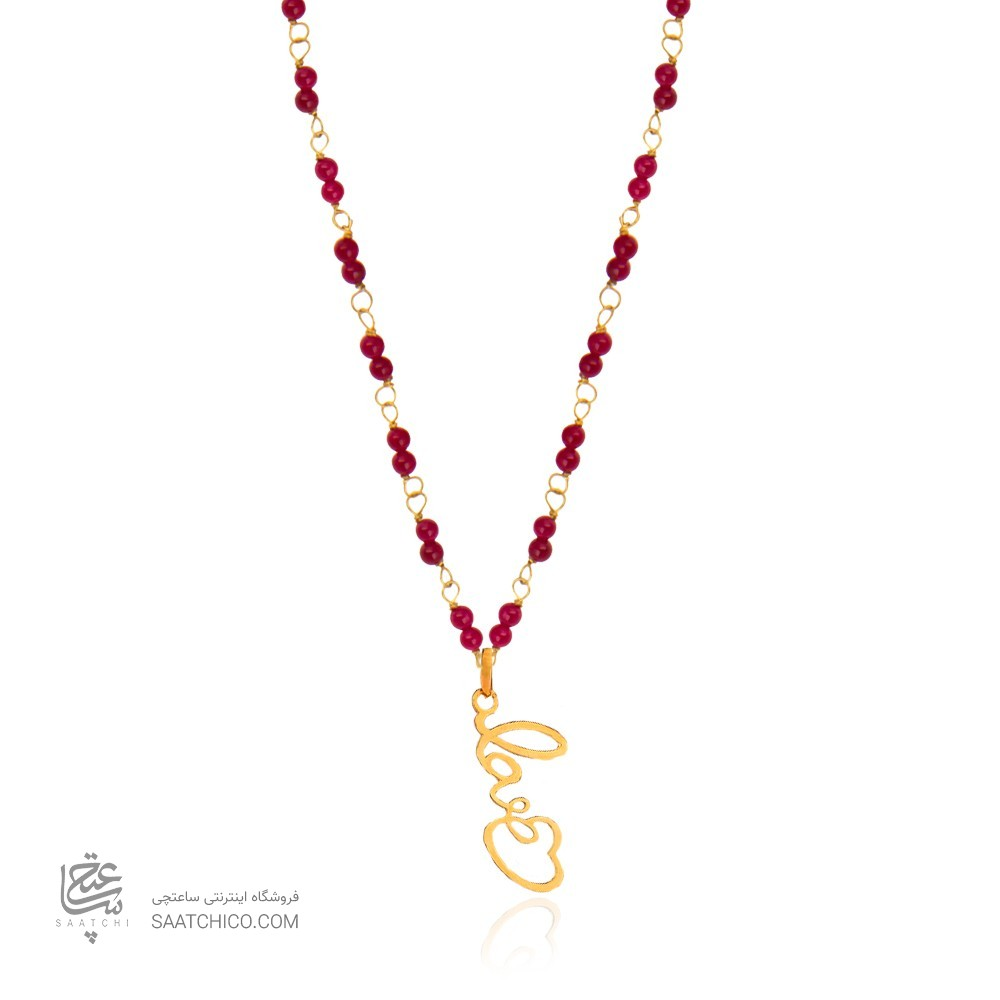 گردنبند طلا زنانه طرح عشق ولنتاین کد xn310