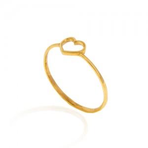 انگشتر طلا زنانه طرح قلب کد cr380