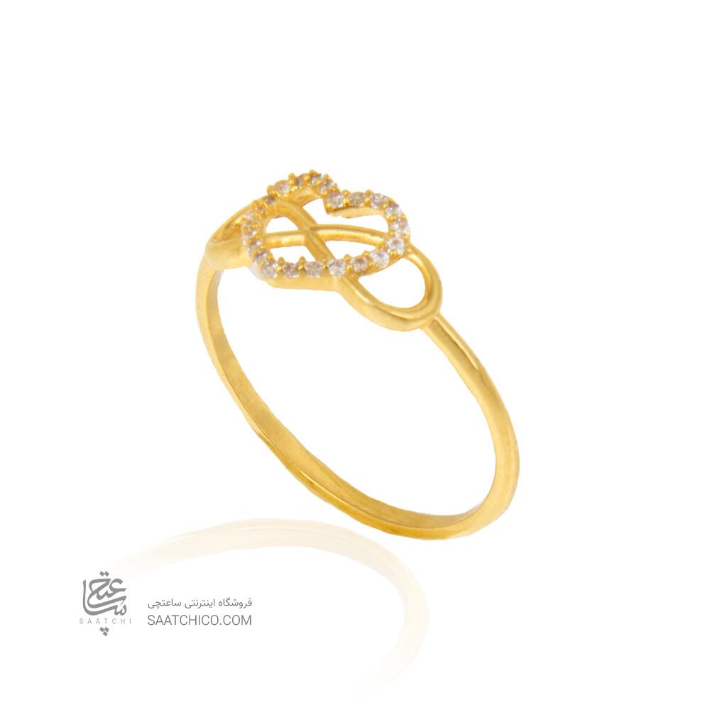 انگشتر طلا طرح قلب و بی نهایت  کد cr382