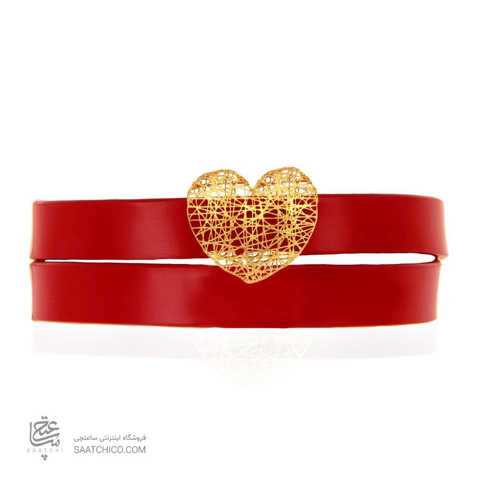 دستبند طلا زنانه طرح قلب ولنتاین کد xb939