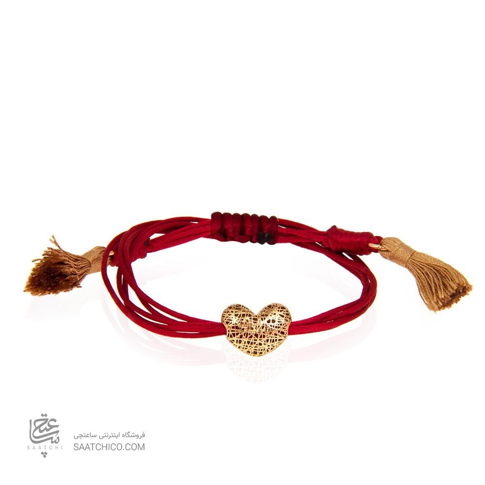 دستبند طلا زنانه طرح قلب ولنتاین کد xb940