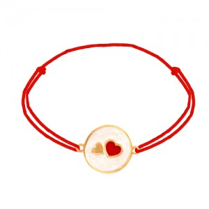 دستبند طلا زنانه طرح عشق ولنتاین کد xb941