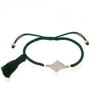 دستبند طلا زنانه با صدف کد xb934