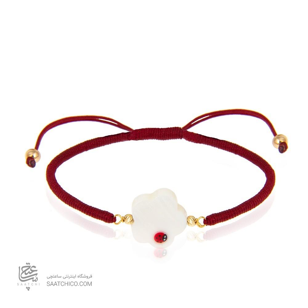 دستبند طلا زنانه با صدف کد xb935