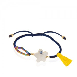 دستبند طلا زنانه با صدف کد xb936