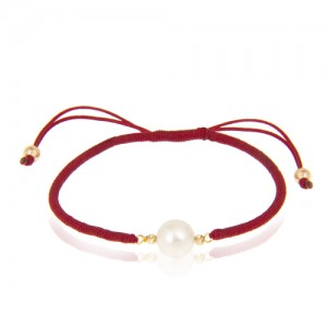 دستبند طلا زنانه با مروارید کد xb937