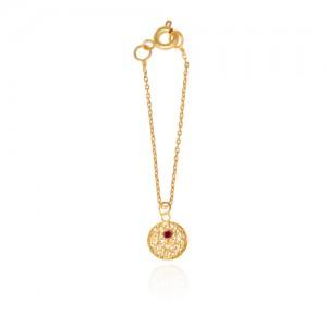 آویز ساعت طلا زنانه طرح هندسی با نگین کد wp335