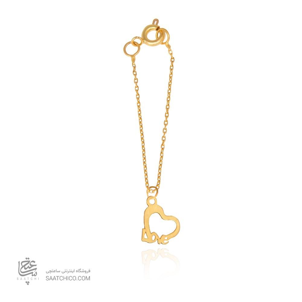 آویز ساعت طلا زنانه طرح عشق ولنتاین کد wp338