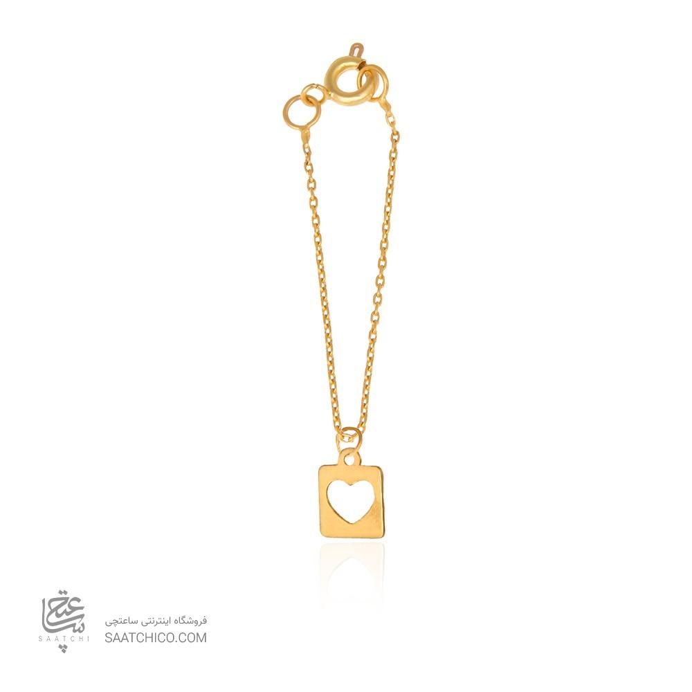 آویز ساعت طلا زنانه طرح هندسی و قلب ولنتاین کد wp346