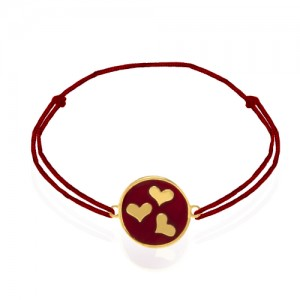 دستبند طلا زنانه طرح عشق ولنتاین کد xb943