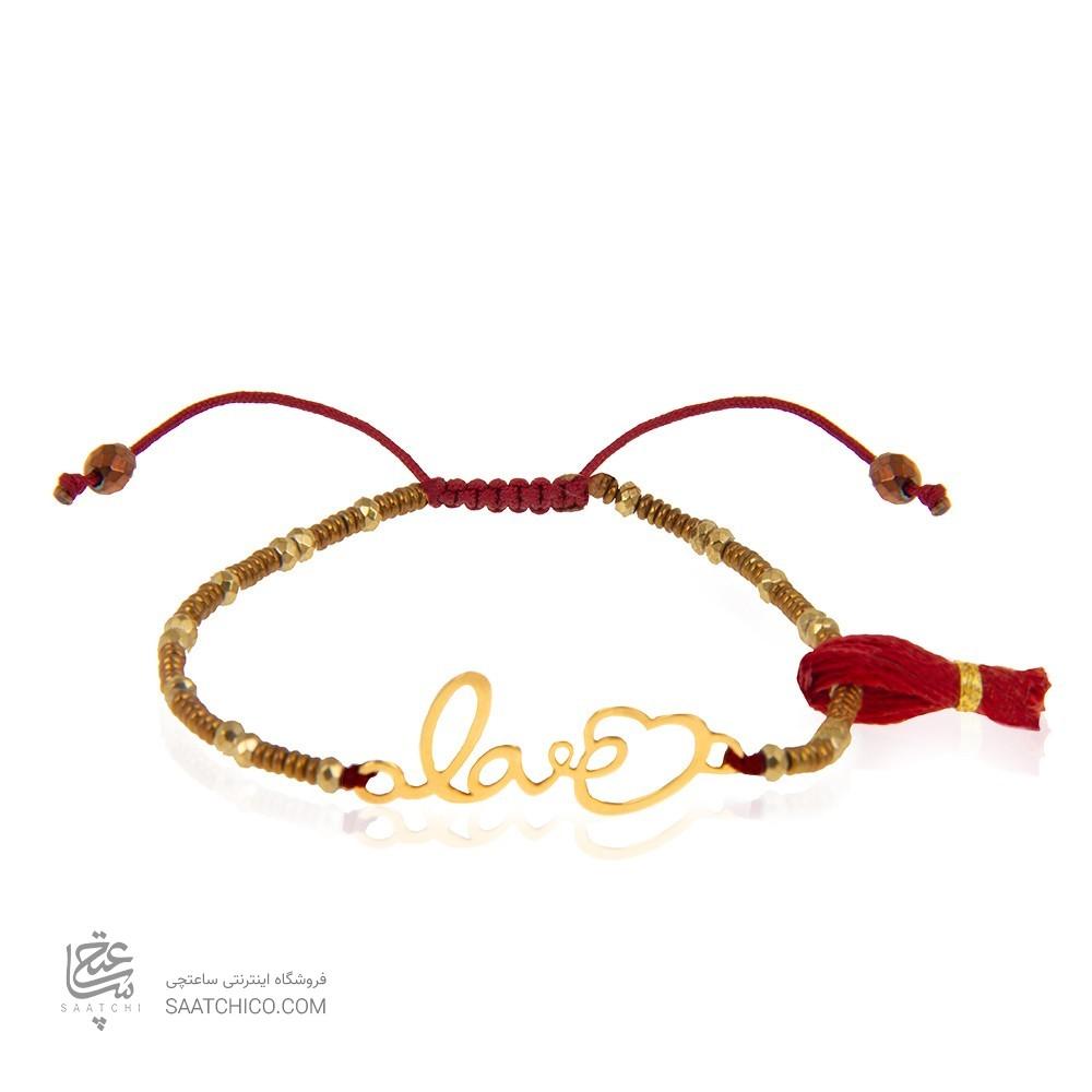 دستبند طلا زنانه طرح love ولنتاین کد xb944