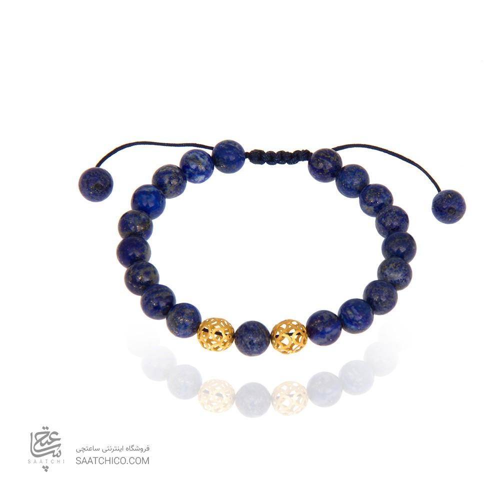 دستبند مردانه با گوی طلا کد mb103