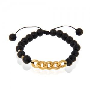 دستبند طلا مردانه طرح کارتیه کد mb110