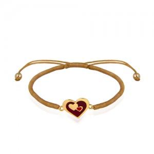 دستبند طلا زنانه طرح قلب ولنتاین کد xb945